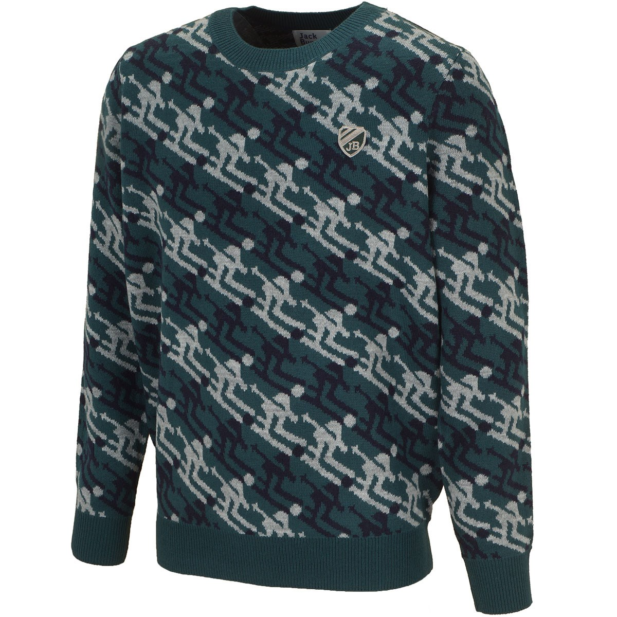 ジャックバニー バイ パーリーゲイツ 袋ジャガードセーター