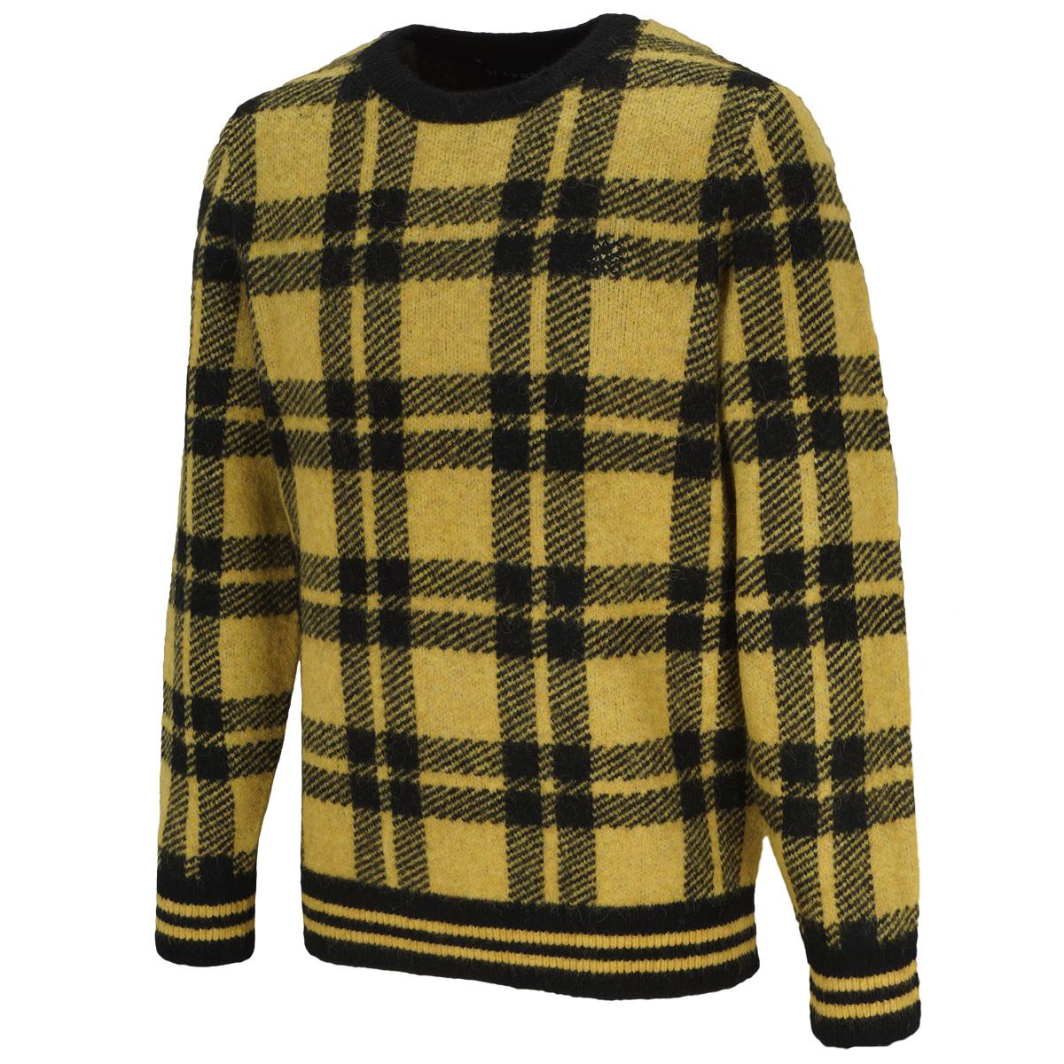チェックダブルジャガードセーター