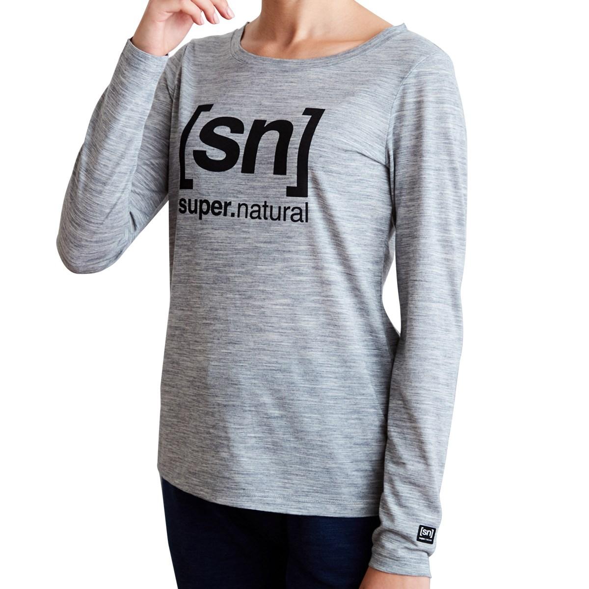スーパーナチュラル [sn]super.natural ESSENTIAL I.D. 長袖Tシャツ S グレー杢 H83 レディス