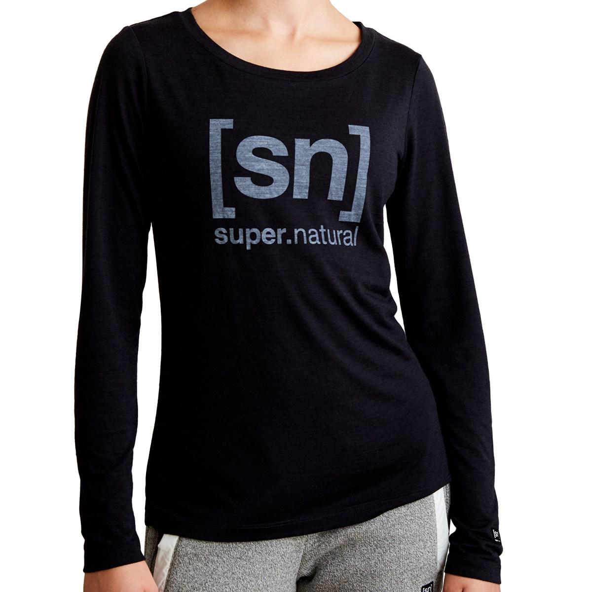 スーパーナチュラル [sn]super.natural ESSENTIAL I.D. 長袖Tシャツ M ブラック I17 レディス