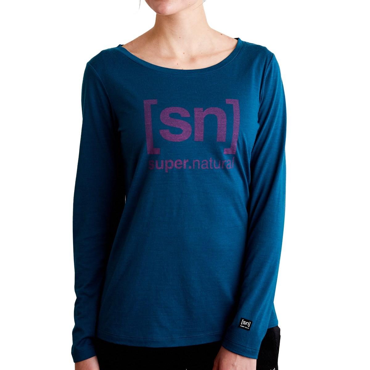 スーパーナチュラル [sn]super.natural ESSENTIAL I.D. 長袖Tシャツ S ブルー I52 レディス