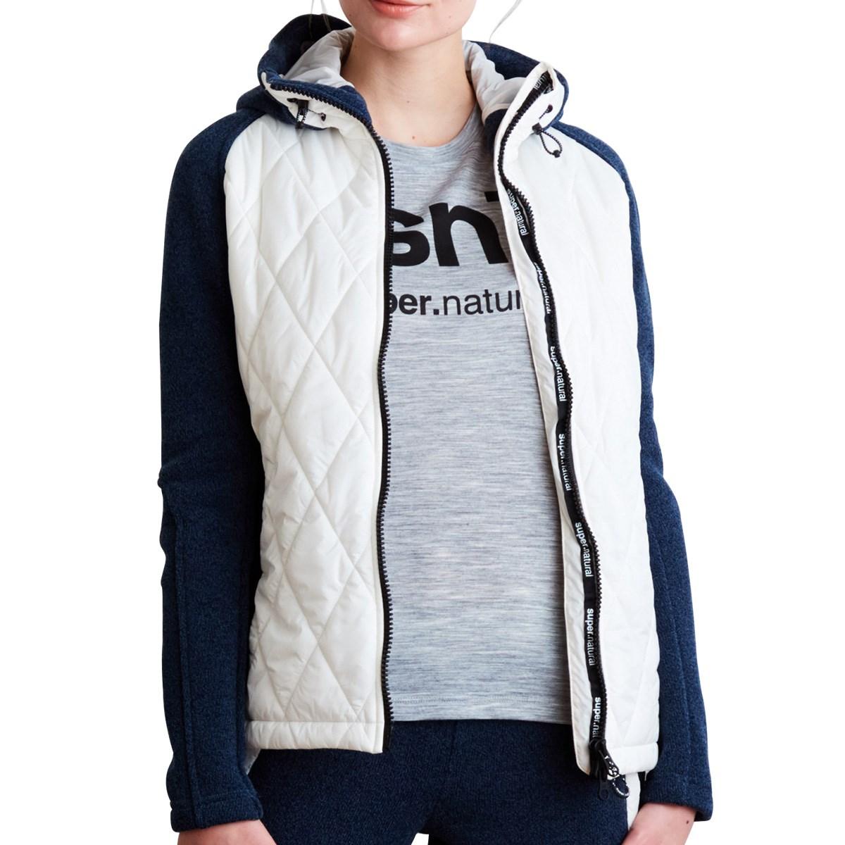 [アウトレット] [在庫限りのお買い得商品] スーパーナチュラル COMPOUND ジャケット ホワイト 229 レディース ゴルフウェア