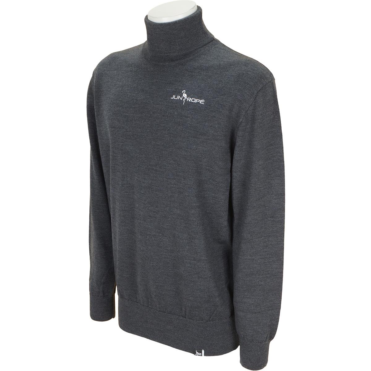 ロゴ刺繍入りタートルネックセーター