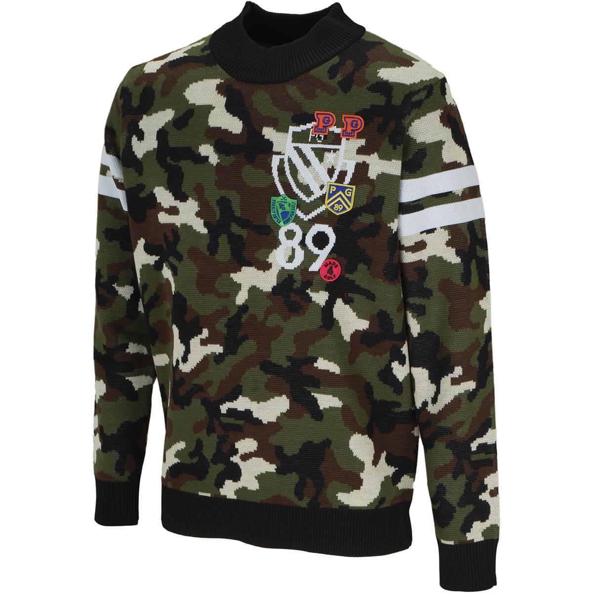 スムージーウールタイプ×PY カモ柄ジャガード セーター
