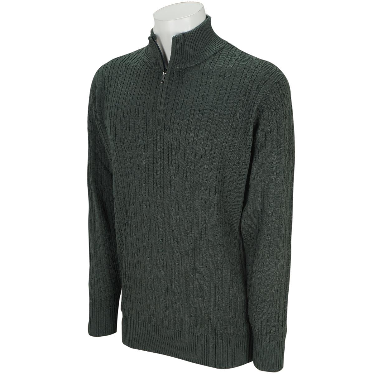 ストレッチ ジップアップセーター