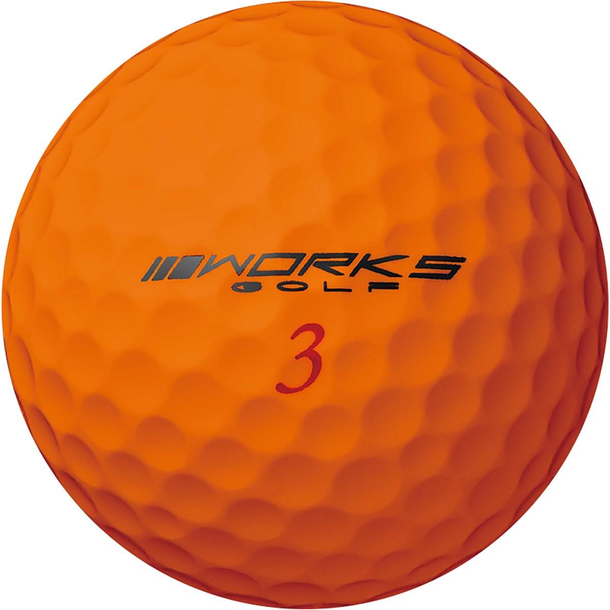 ワークス ゴルフ HISHO 飛匠レッドラベル 極 ボール 1ダース(12個入り) オレンジ 【非公認球】