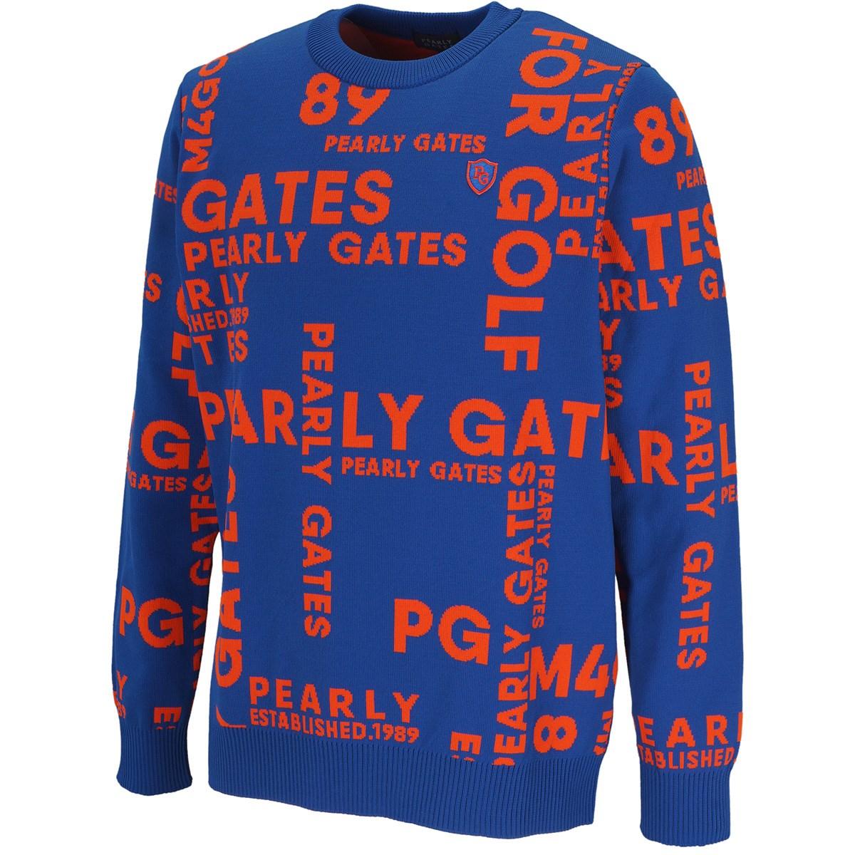パーリーゲイツ ロゴジャカードセーター
