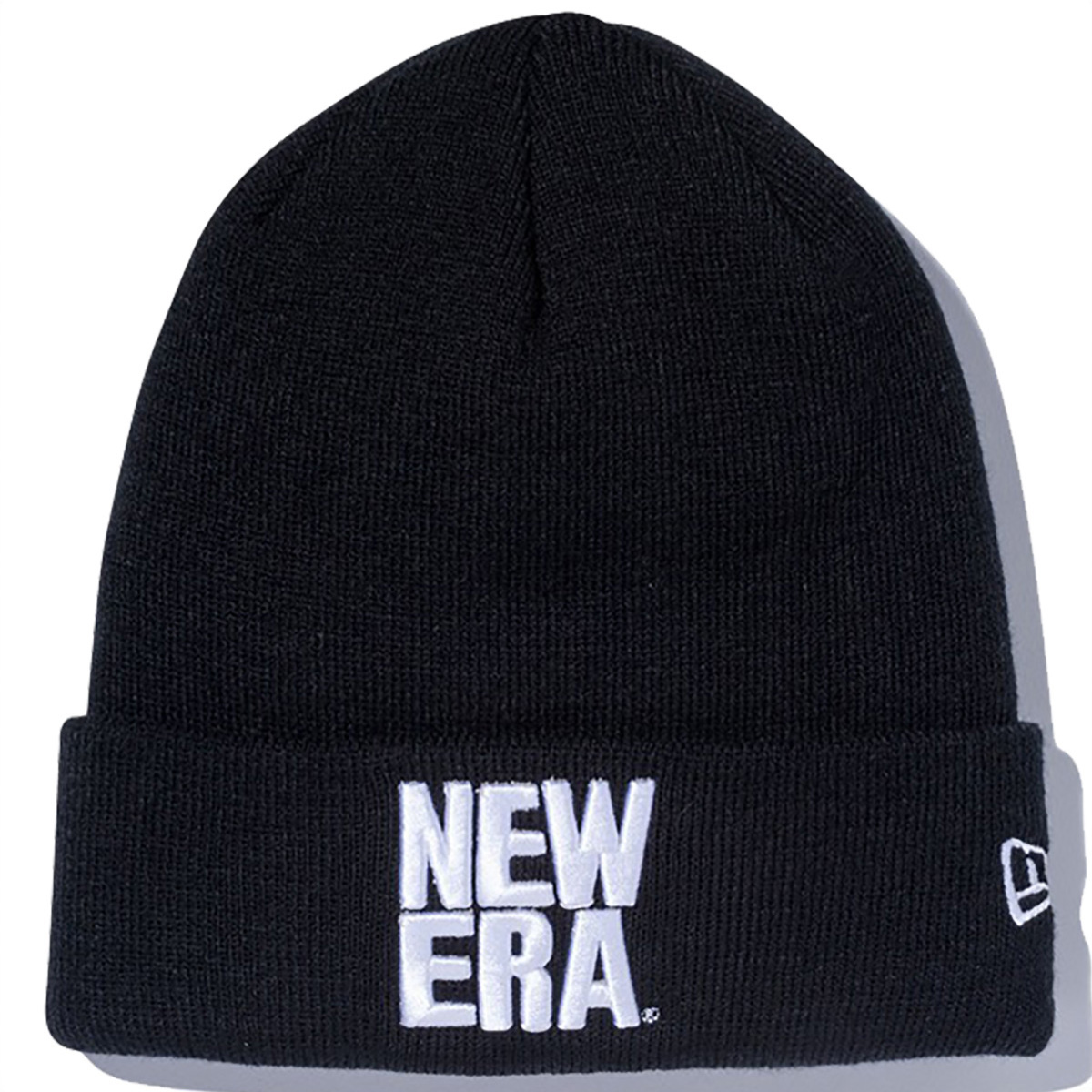 CUFF KNIT SQUARE NEW ERA LOGO ニットキャップ