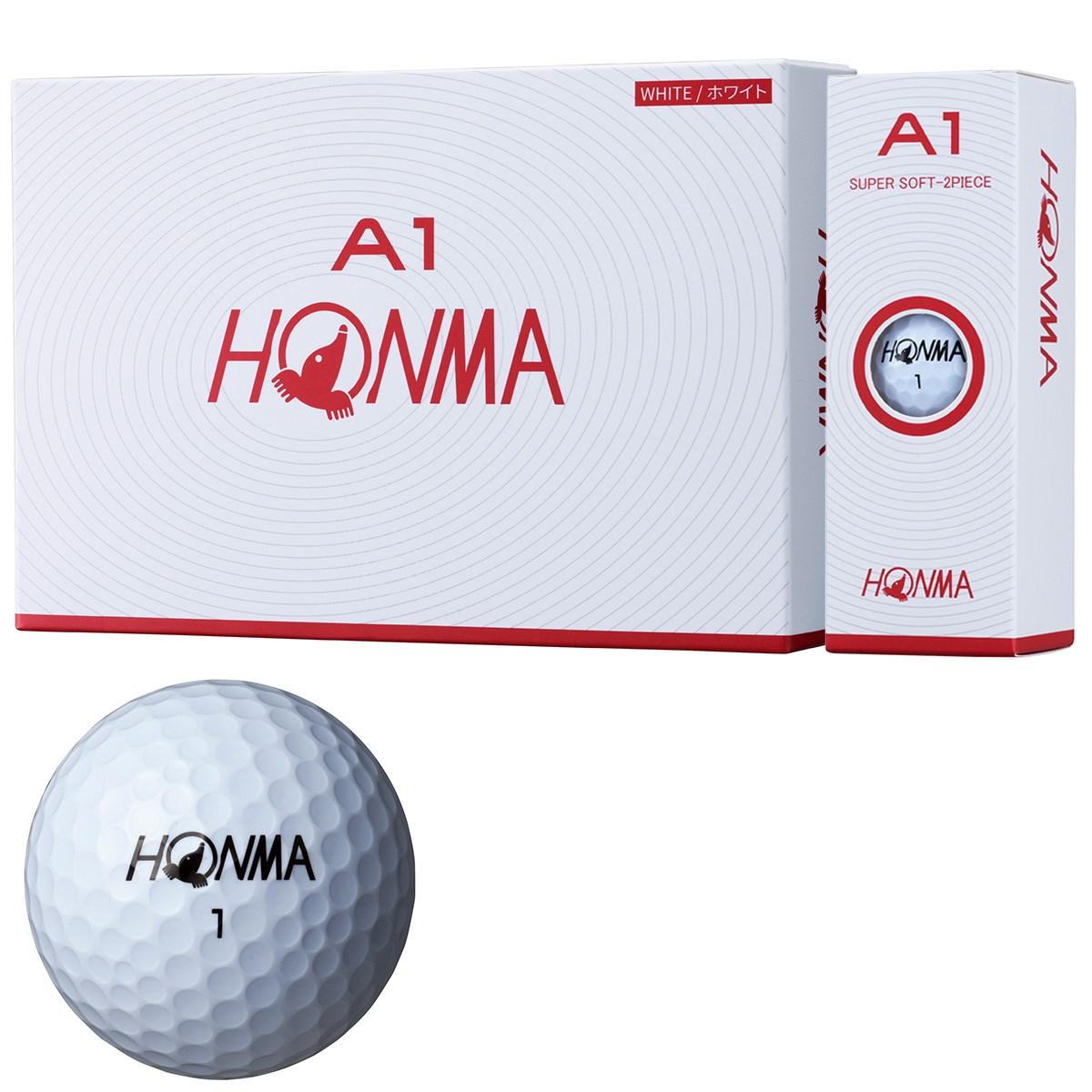 本間ゴルフ HONMA A1 ボール 1ダース(12個入り) ホワイト