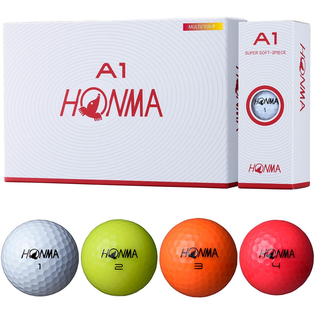 本間ゴルフ HONMA A1 ボール 1ダース(12個入り) マルチ