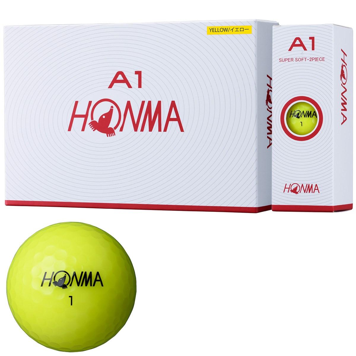本間ゴルフ HONMA A1 ボール 1ダース(12個入り) イエロー