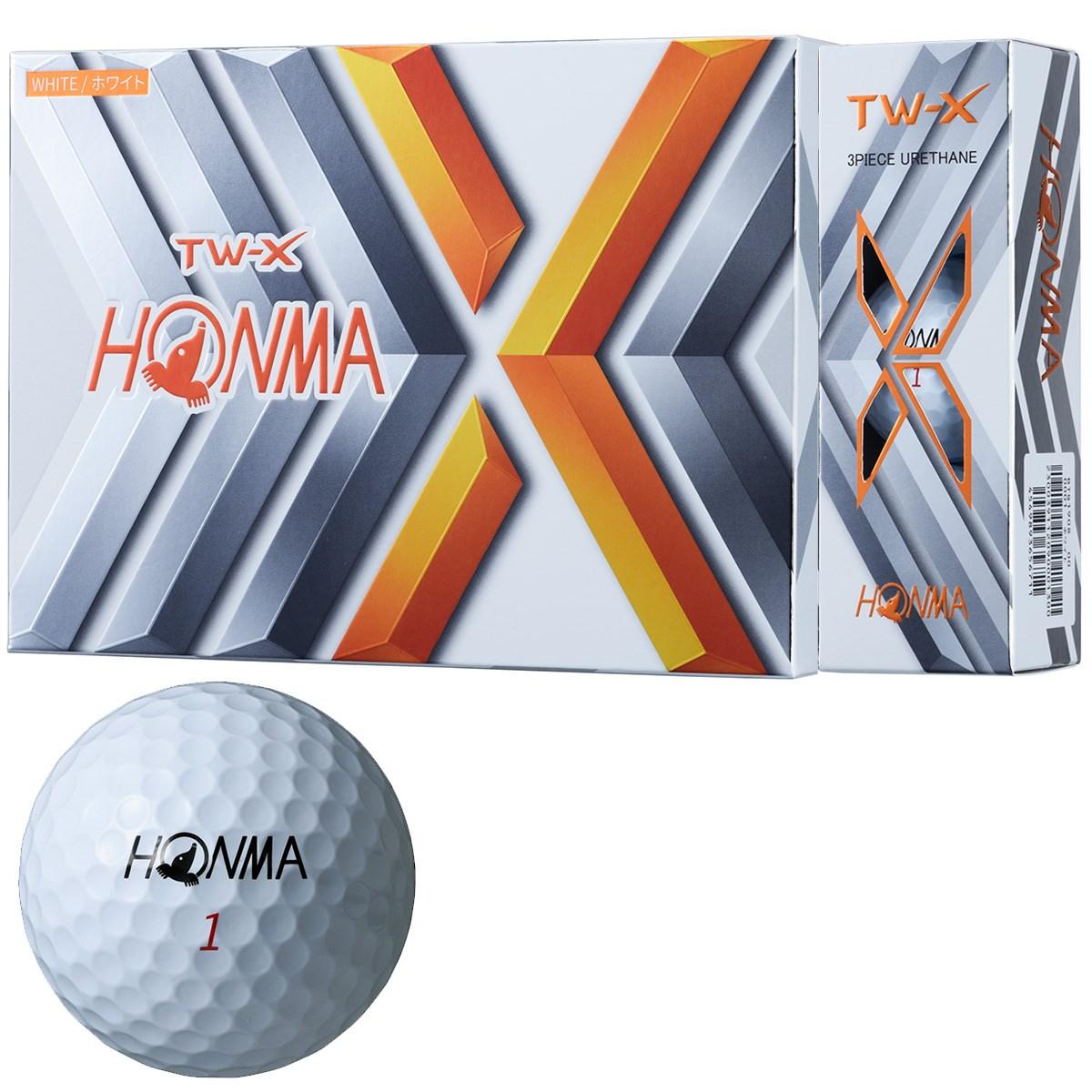 本間ゴルフ TOUR WORLD TW-X ボール 1ダース(12個入り) ホワイト