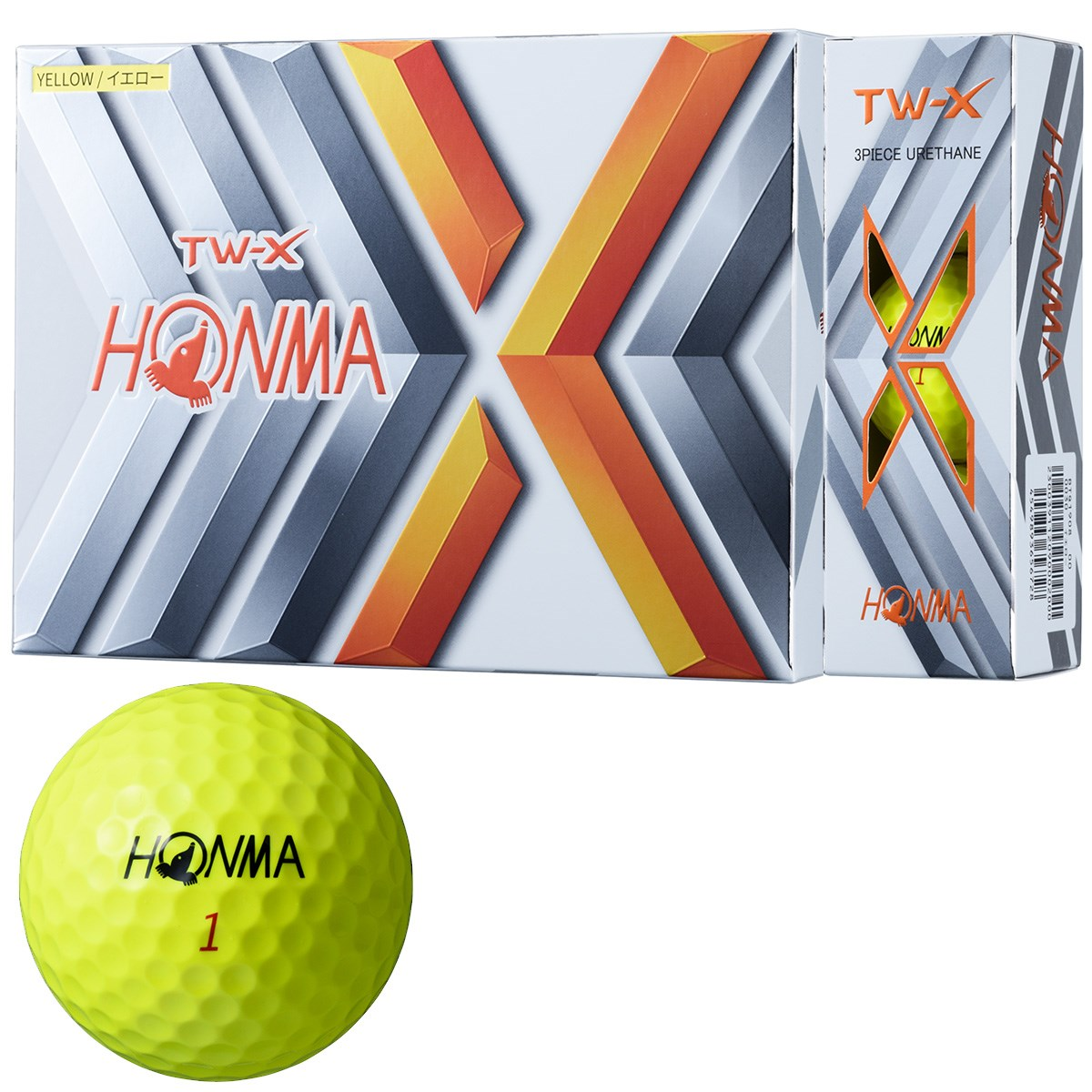 本間ゴルフ TOUR WORLD TW-X ボール 1ダース(12個入り) イエロー
