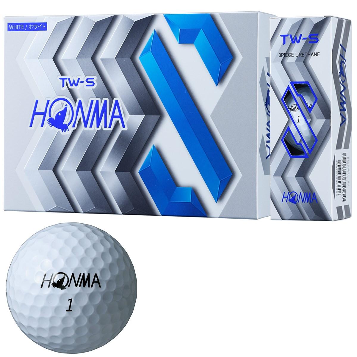 本間ゴルフ TOUR WORLD TW-S ボール 1ダース(12個入り) ホワイト