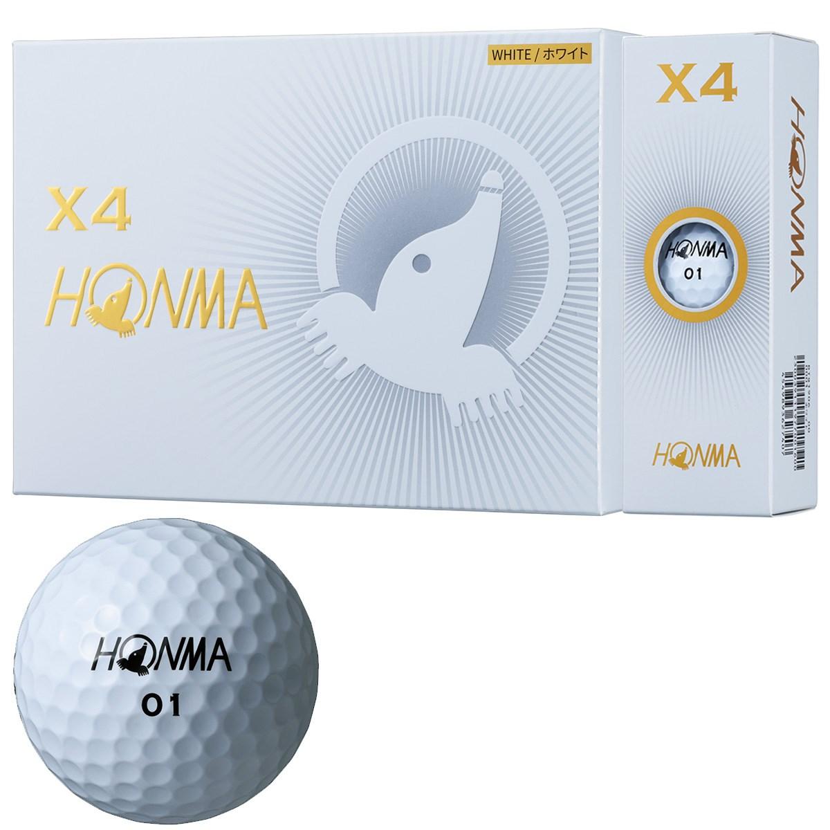 本間ゴルフ HONMA X4 ボール 1ダース(12個入り) ホワイト