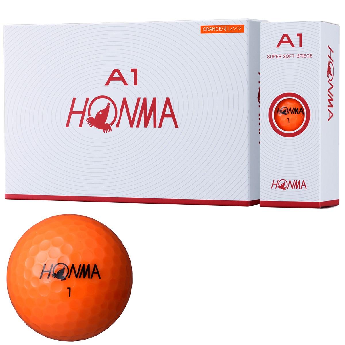 本間ゴルフ HONMA A1 ボール 3ダースセット 3ダース(36個入り) オレンジ