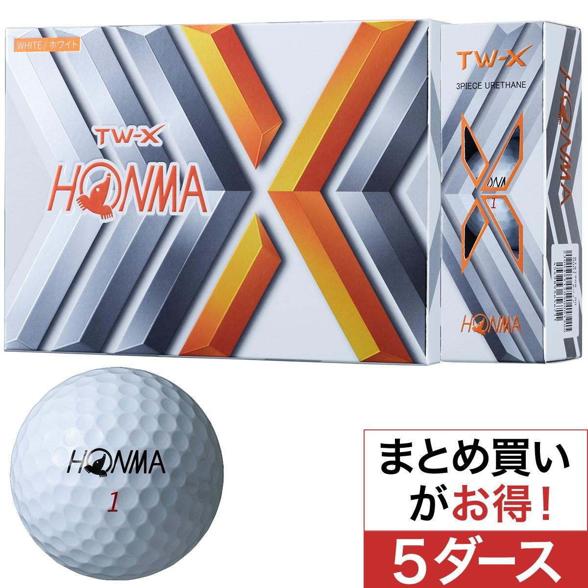 本間ゴルフ(HONMA GOLF) TW-X ボール 5ダースセット