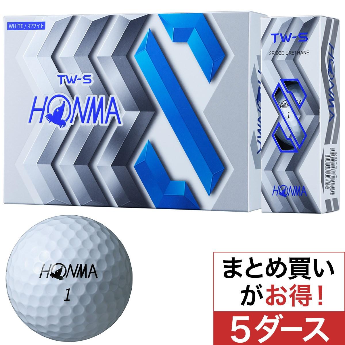 本間ゴルフ(HONMA GOLF) TW-S ボール 5ダースセット