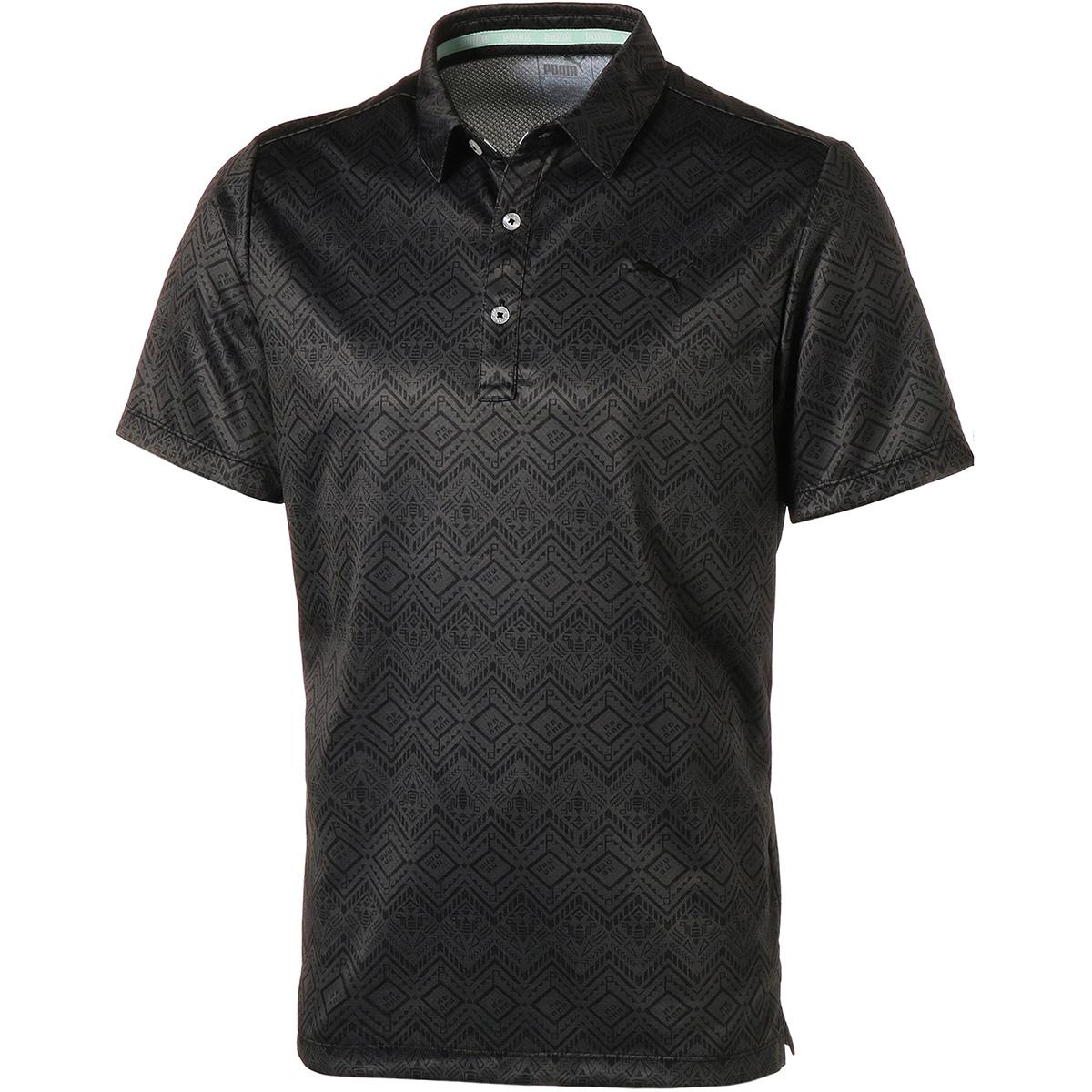 トライバル グラフィック 半袖ポロシャツ