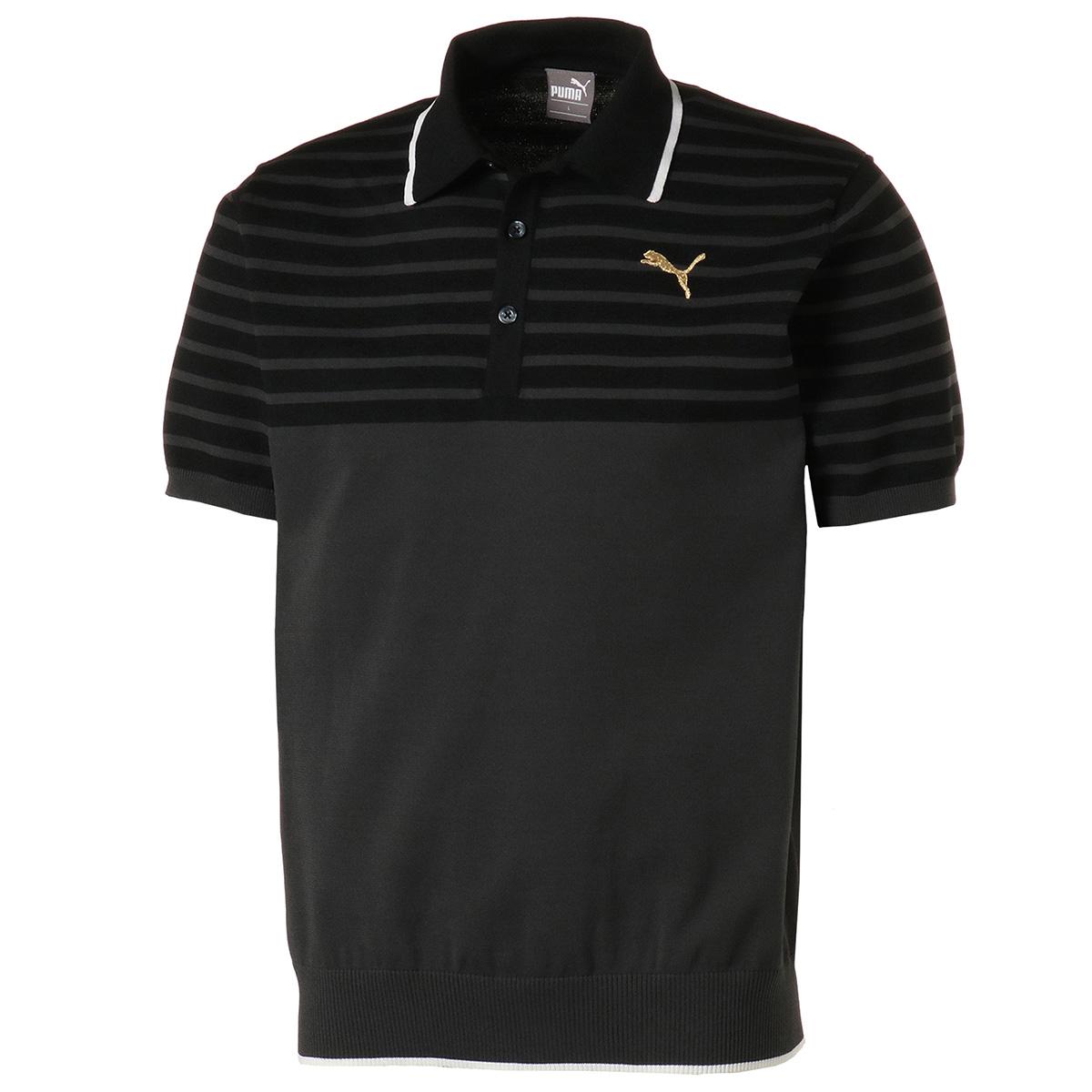 ニット 半袖ポロシャツ