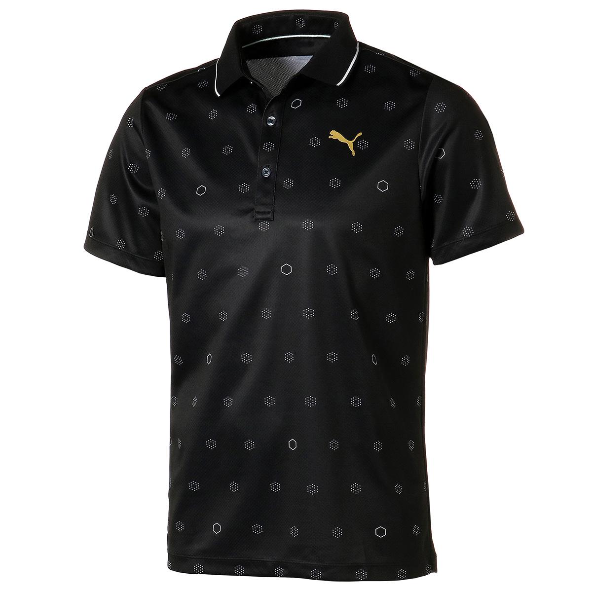 18ホール モノグラム 半袖ポロシャツ