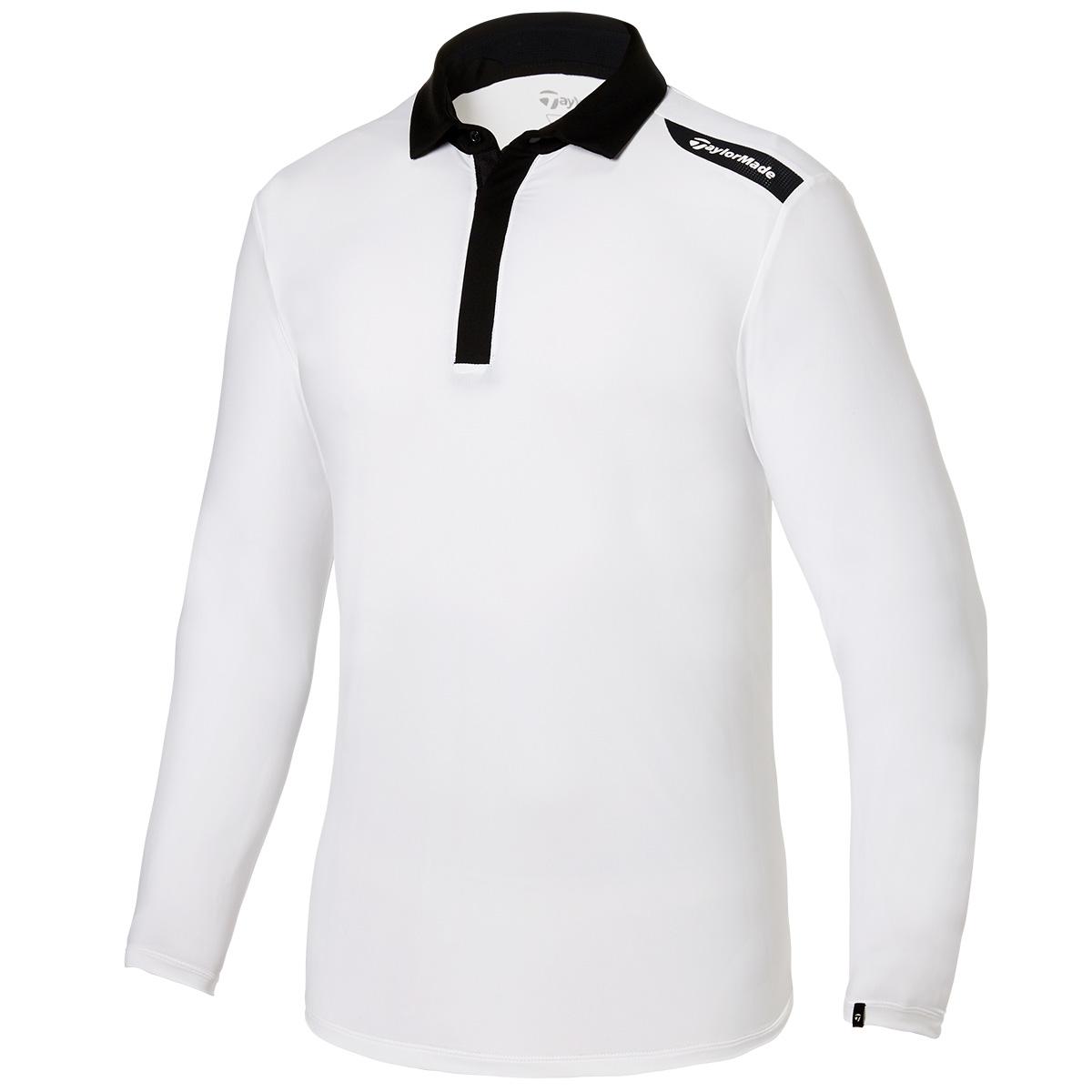 ストレッチ タブロゴ 長袖ポロシャツ