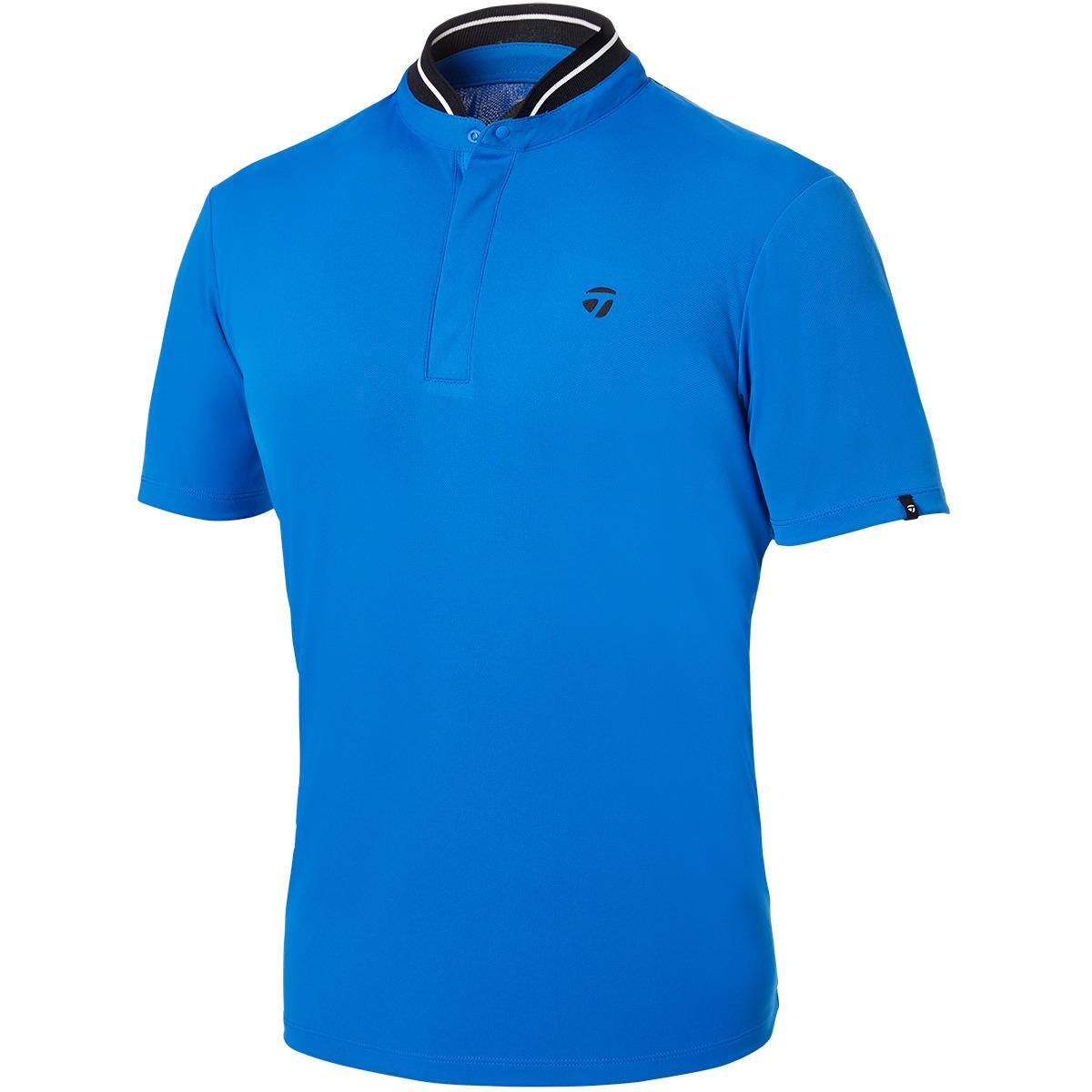 スタンドカラー 半袖ポロシャツ