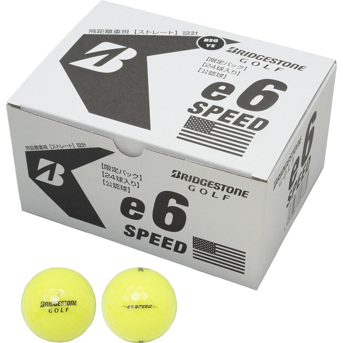 ブリヂストン BRIDGESTONE e6 SPEED ボール 2ダースセット 2ダース(24個入り) イエロー(ロゴ:BSG)
