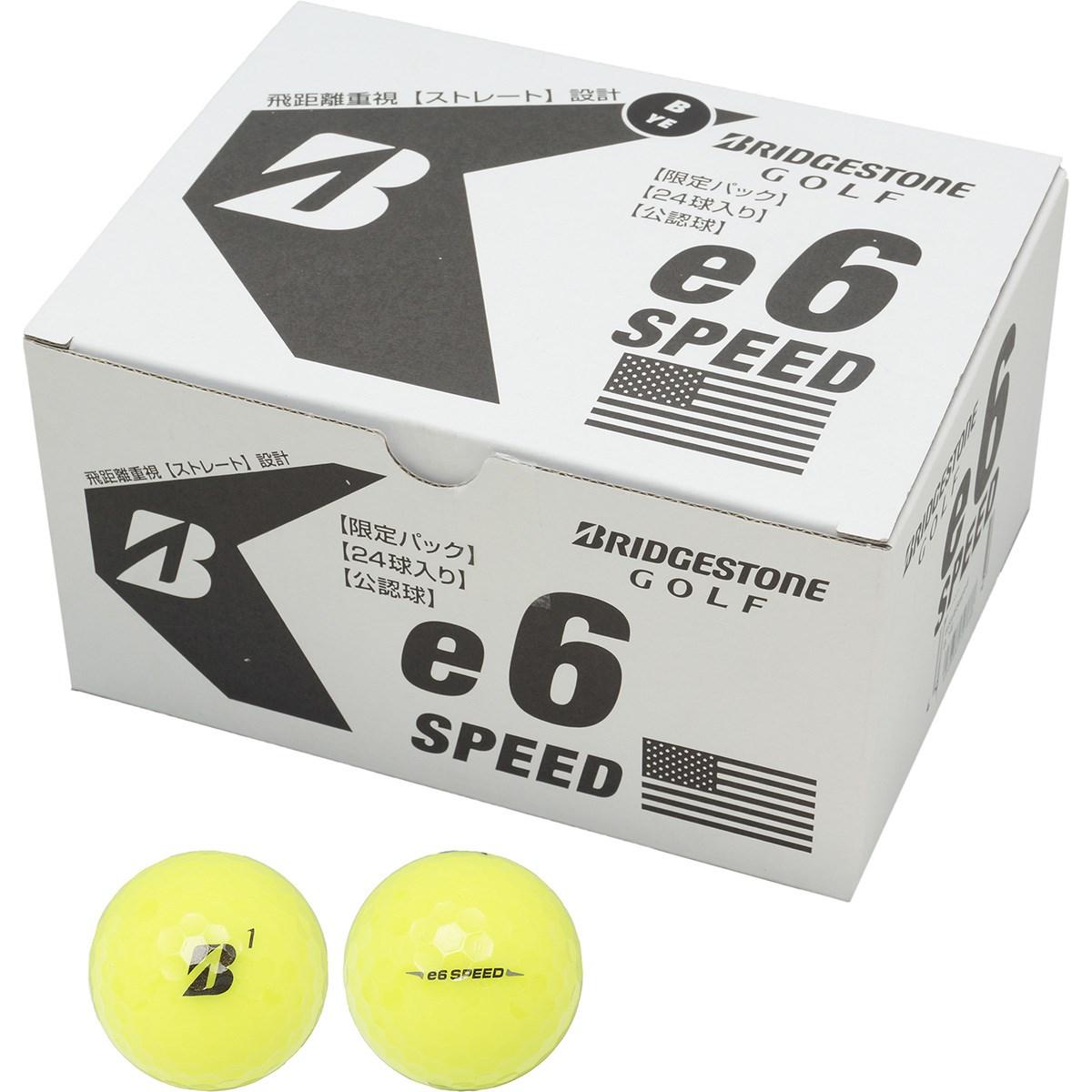 ブリヂストン BRIDGESTONE e6 SPEED ボール 2ダースセット 2ダース(24個入り) イエロー(ロゴ:B)