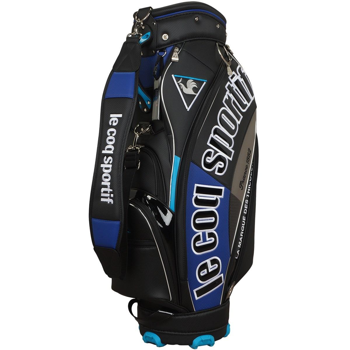 ルコックゴルフ Le coq sportif GOLF キャディバッグ ブラック/ブルー