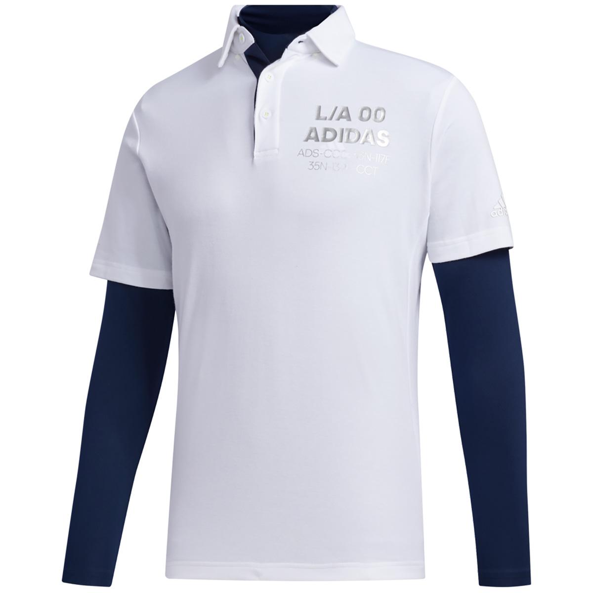 チェストロゴ レイヤード 半袖ポロシャツ
