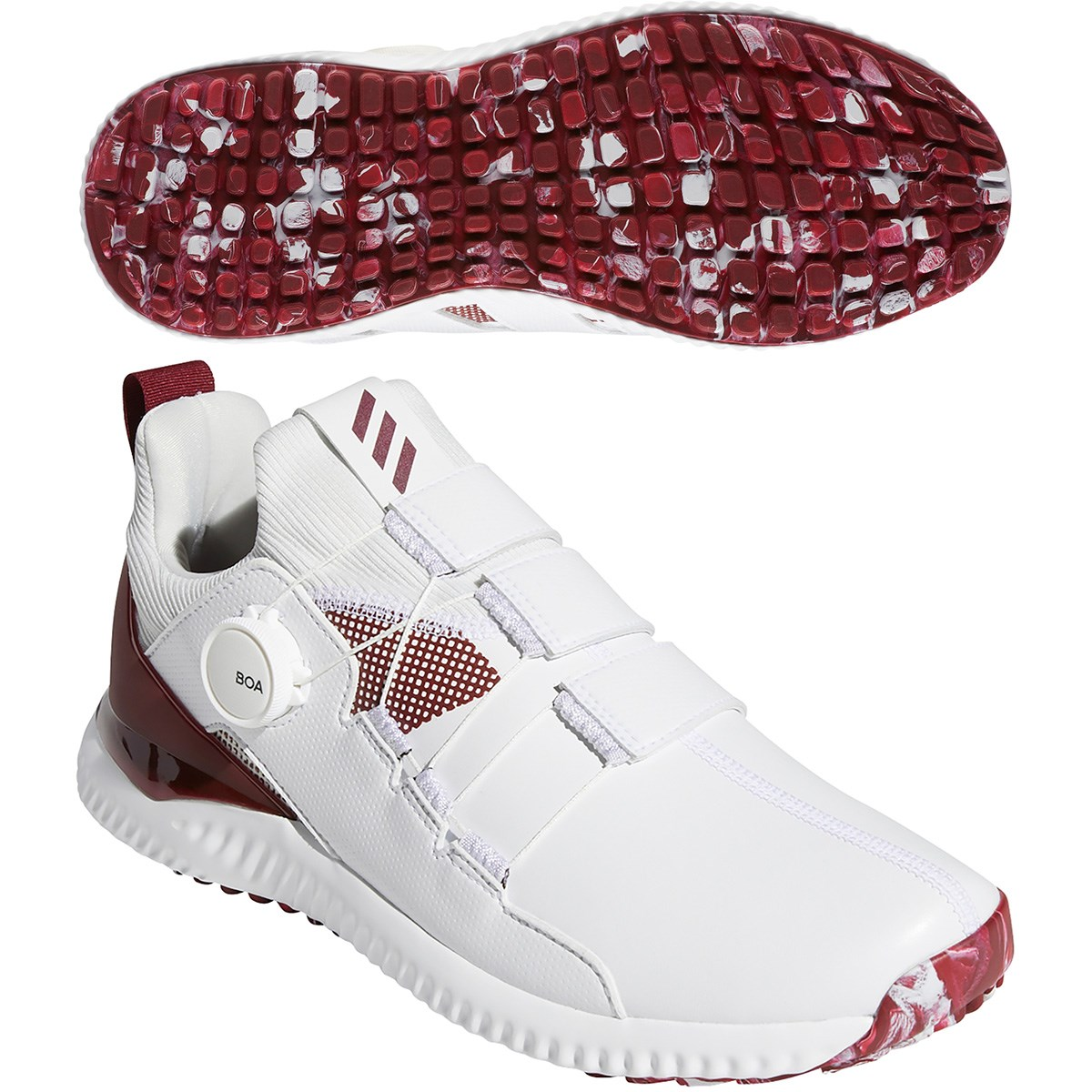 アディダス Adidas アディクロス バウンス ボア シューズ 26.5cm ホワイト/カレジエイトバーガンディー/オービットグレー