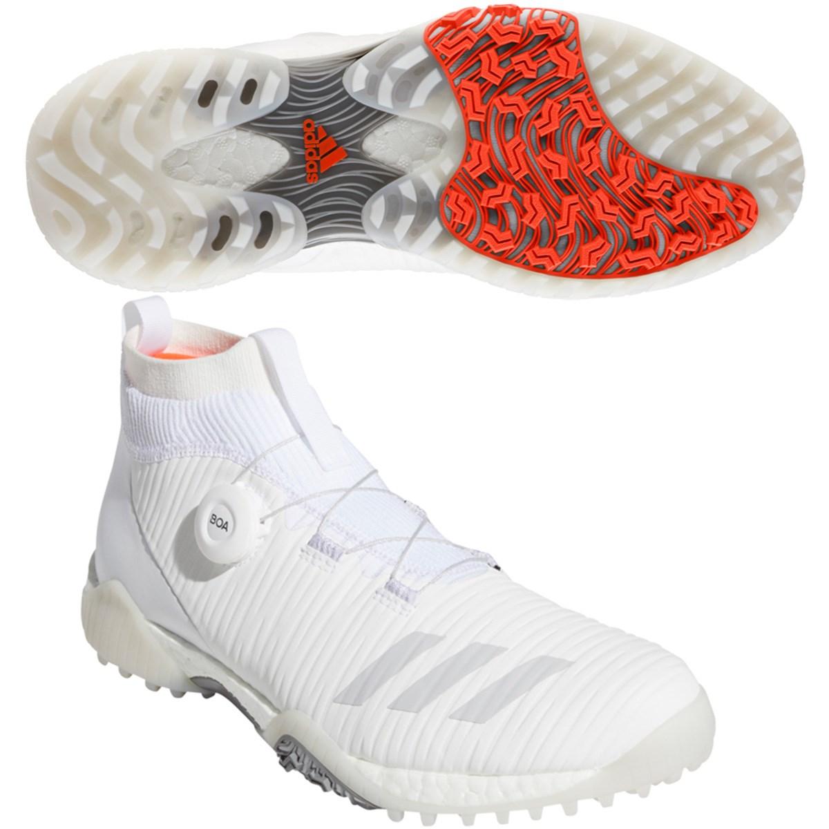 アディダス Adidas コードカオス ボア シューズ 26cm ホワイト/グレーワン/ソーラーレッド