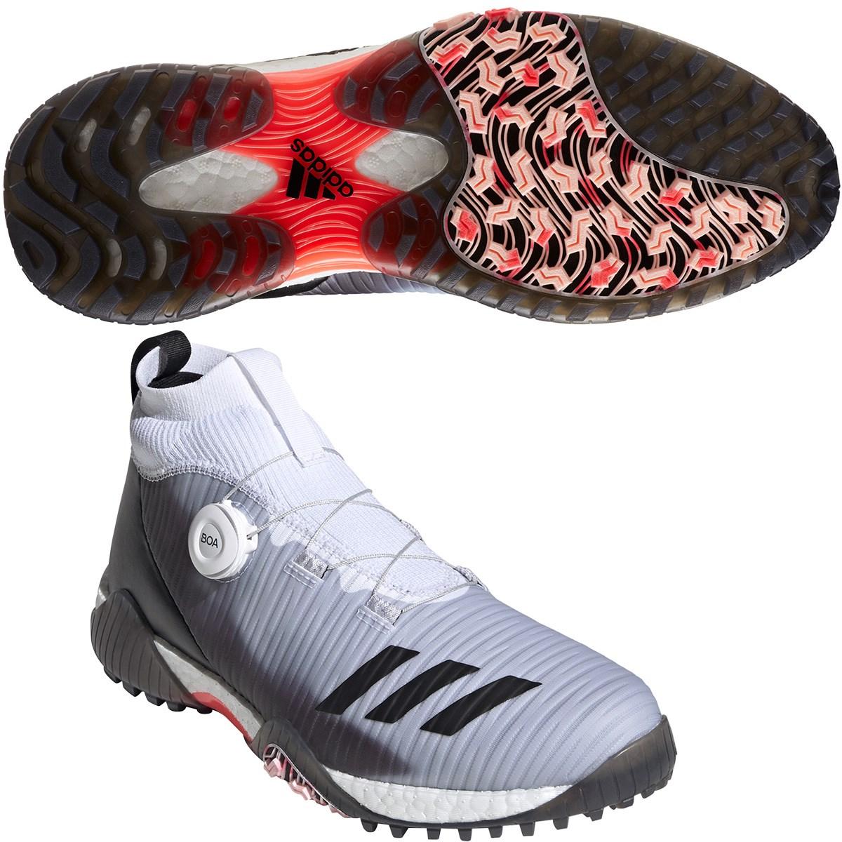 アディダス Adidas コードカオス ボア シューズ 25cm ホワイト/コアブラック/ライトフラッシュオレンジ