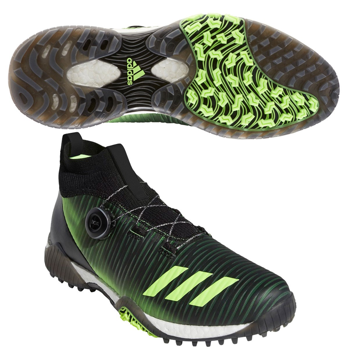 アディダス Adidas コードカオス ボア シューズ 24.5cm コアブラック/シグナルグリーン/ホワイト