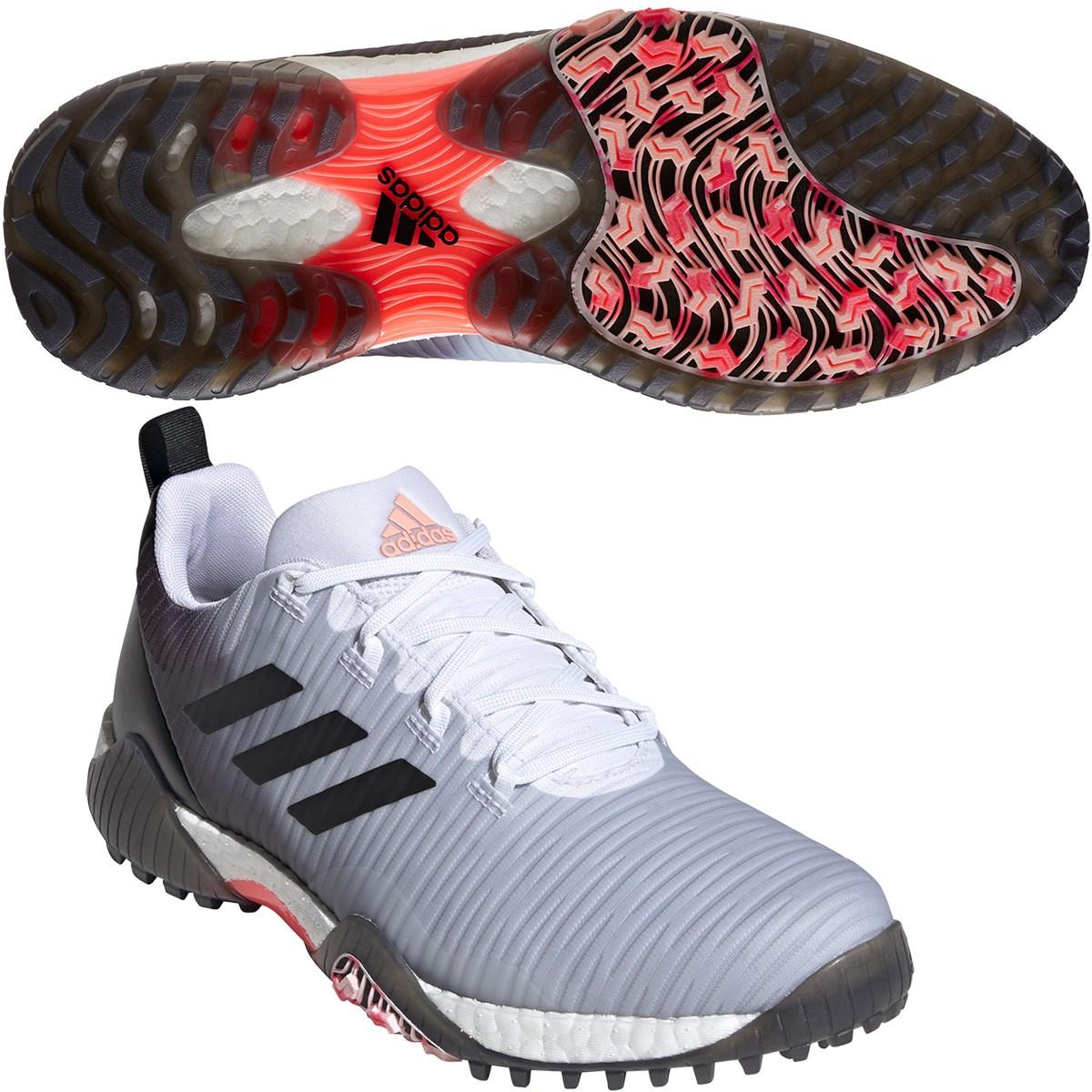 アディダス Adidas コードカオス シューズ 24.5cm ホワイト/コアブラック/ライトフラッシュオレンジ