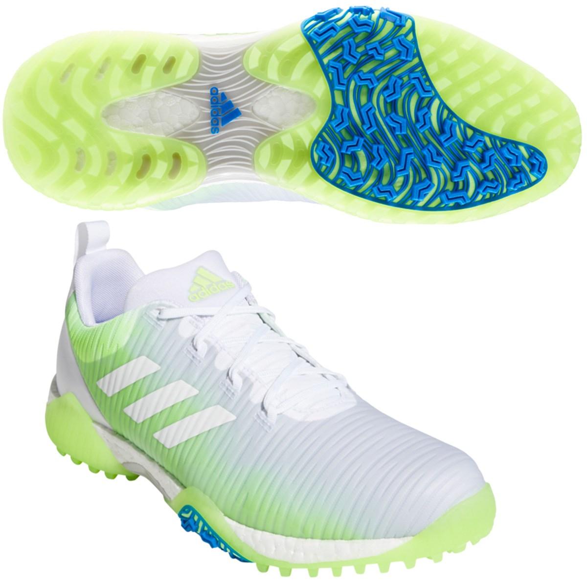アディダス Adidas コードカオス シューズ 27.5cm ホワイト/シグナルグリーン/グローリーブルー