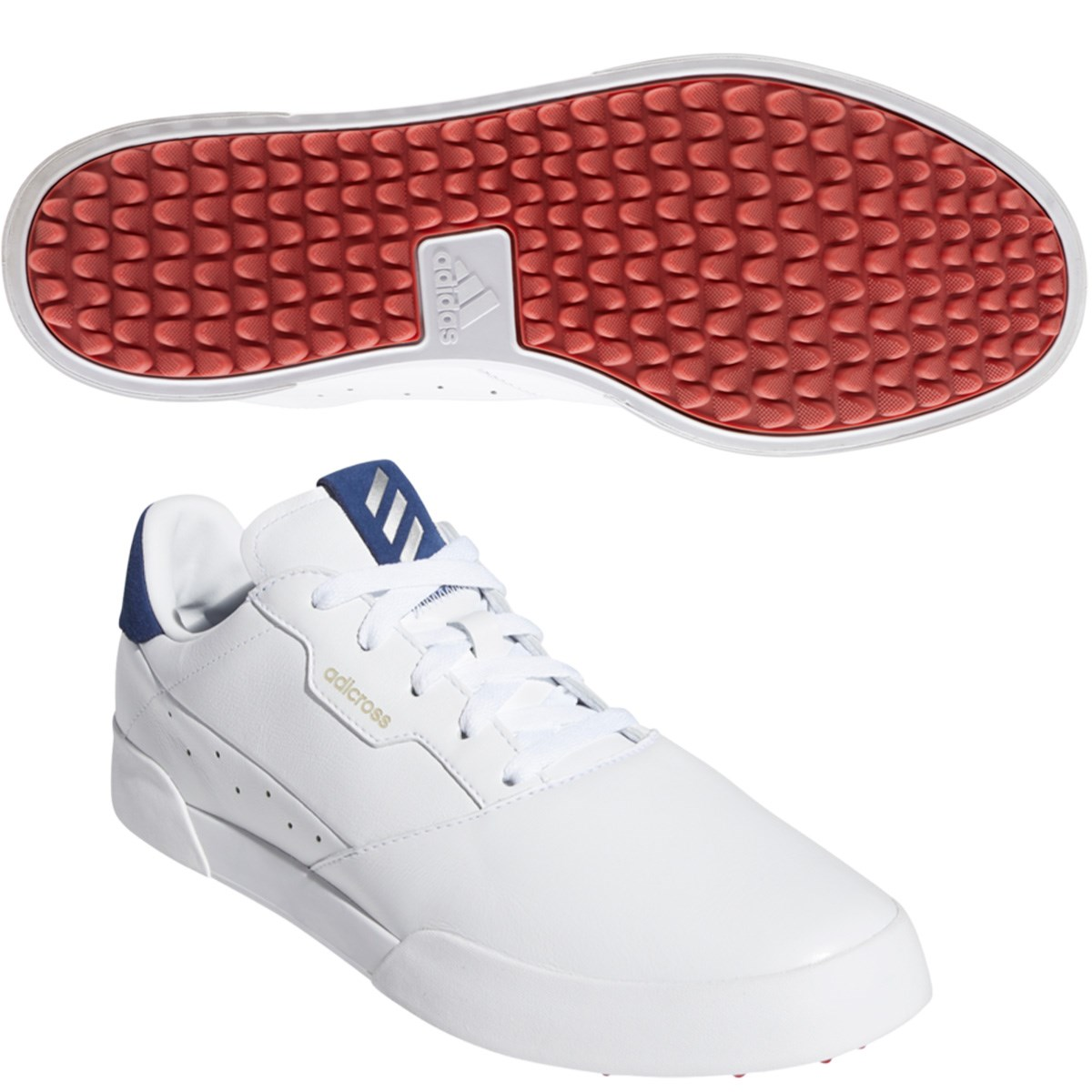 アディダス Adidas アディクロス レトロ シューズ 25cm ホワイト/シルバーメタリック/テックインディゴ