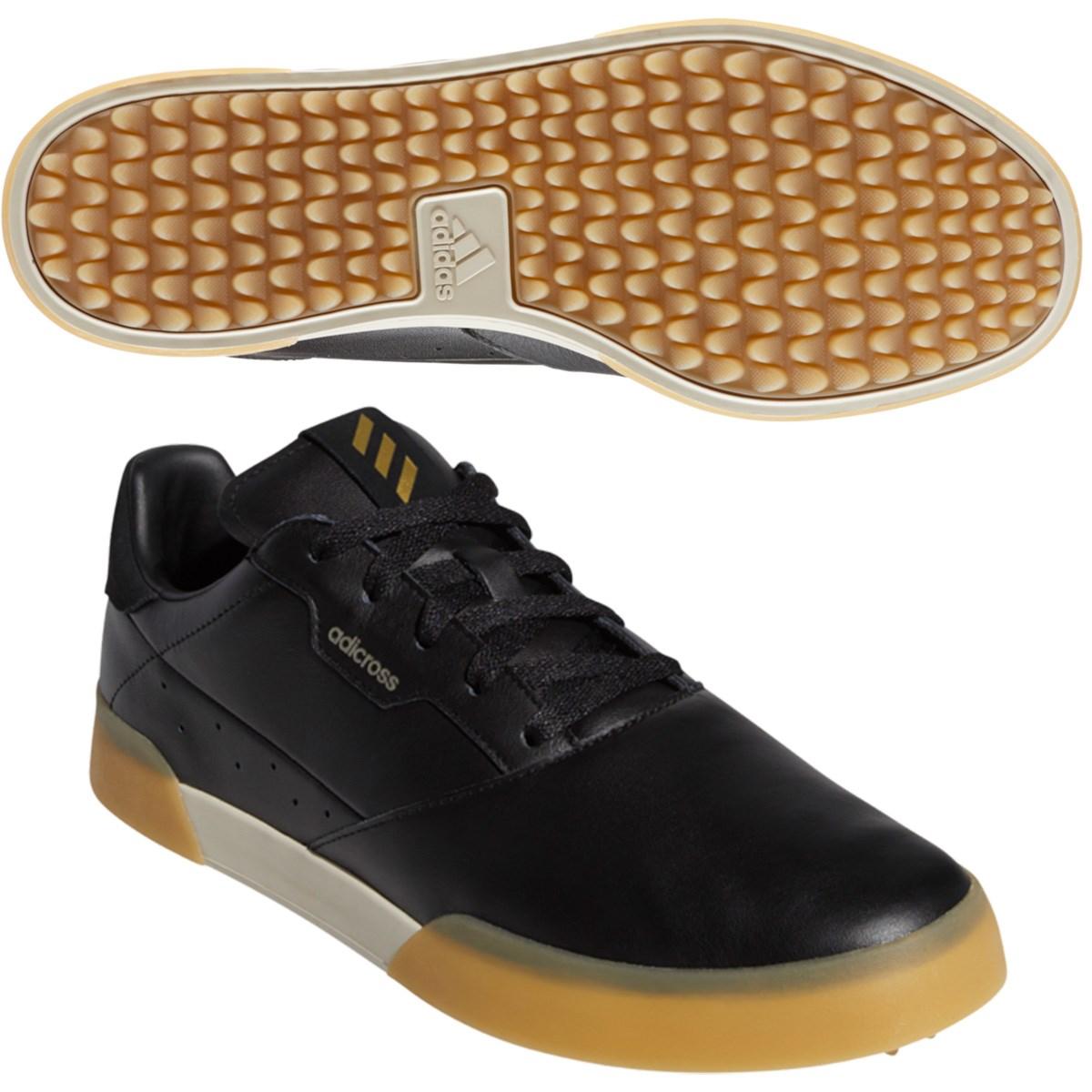 アディダス Adidas アディクロス レトロ シューズ 24.5cm コアブラック/ゴールドメタリック/クリアブラウン