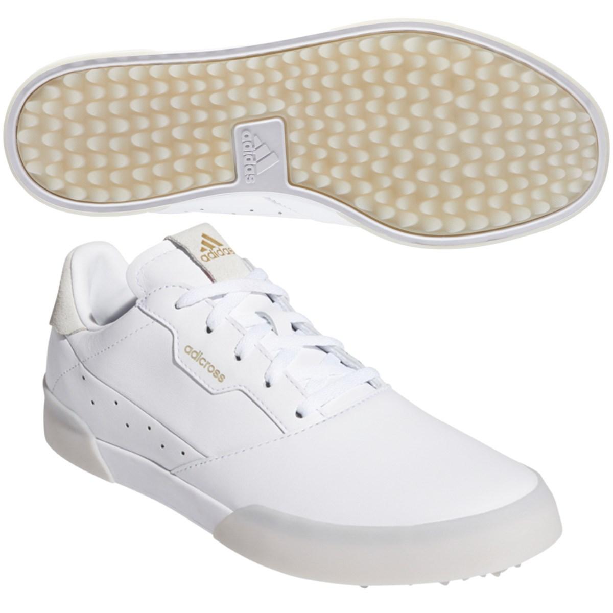 アディダス Adidas アディクロス レトロ シューズ 24cm ホワイト/ゴールドメタリック/クリスタルホワイト レディス