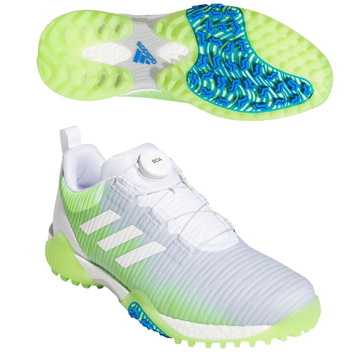 アディダス Adidas コードカオス ボア ロウ シューズ 25.5cm ホワイト/シグナルグリーン/グローリーブルー