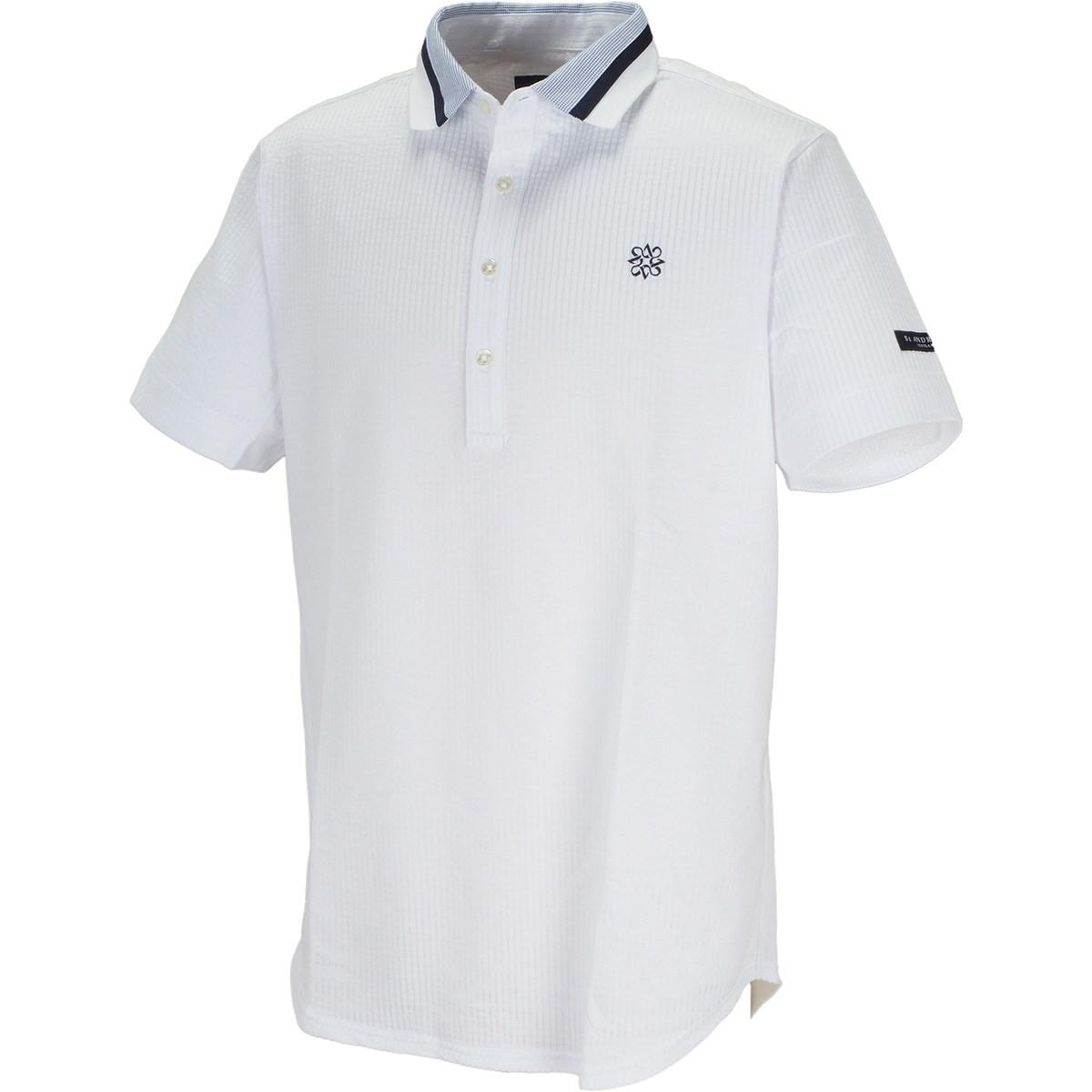 セント・アンドリュース St ANDREWS サッカーストライプ 半袖ポロシャツ M ホワイト 030