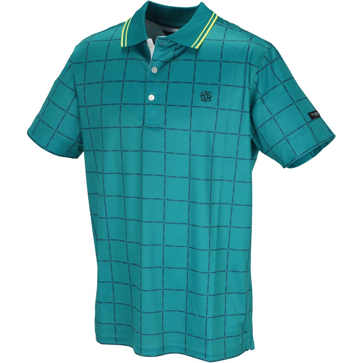 COOLMAX 鹿の子ウインドペンロゴプリント 半袖ポロシャツ