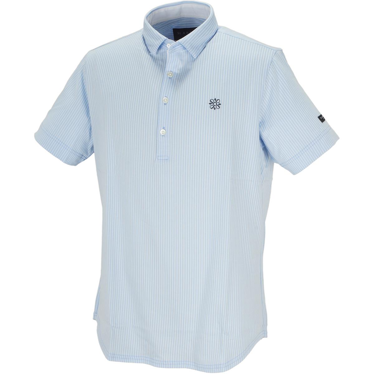 ハイゲージストライプ 半袖ポロシャツ