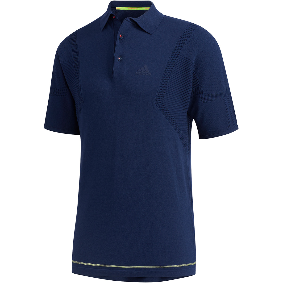 ジャカードパターン 半袖ニットポロシャツ