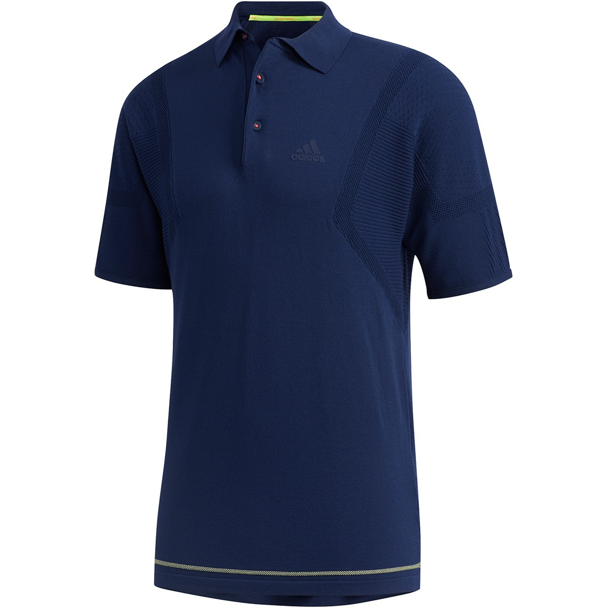 アディダス(adidas) ジャカードパターン 半袖ニットポロシャツ