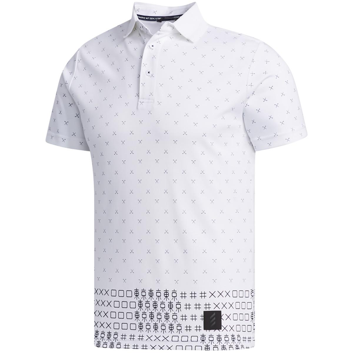 ADICROSS TOKYOプリント 半袖ポロシャツ