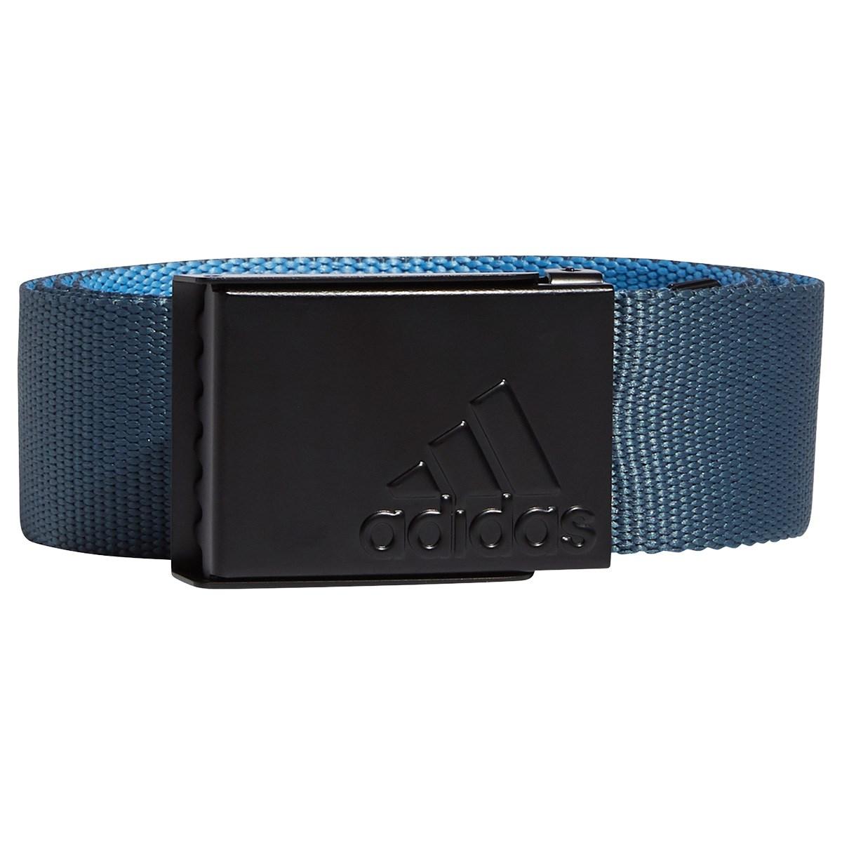 アディダス Adidas リバーシブル ウェビングベルト フリー レガシーブルー