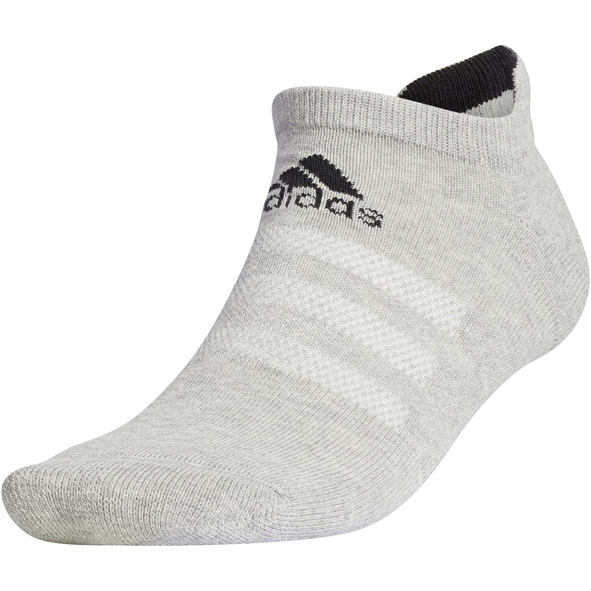 アディダス Adidas ローカットソックス M ミディアムグレイヘザー/ブラック