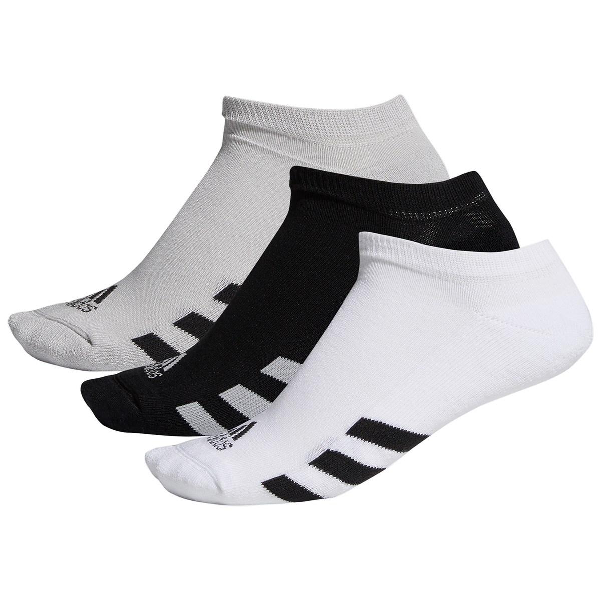 アディダス Adidas ゴルフローカットソックス 3足セット フリー ブラック/グレー/ホワイト
